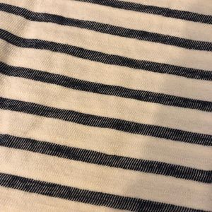 Old Navy Tops - Navy Blue and Cream Striped Knotted Tee